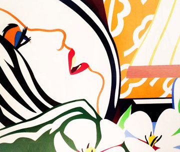 Bedroom Face  with Orange Wallpaper 1987  Huge Limited Edition Print - Tom Wesselmann