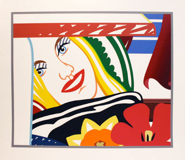 Bedroom Face #41 1990 59x67 Limited Edition Print - Tom Wesselmann