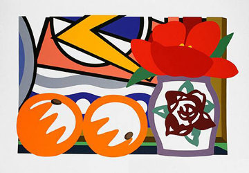 Still Life with Lichtenstein and Two Oranges 1992 Limited Edition Print - Tom Wesselmann