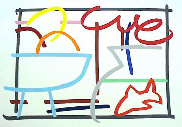 Fast Sketch Still Life With Goldfish 1989 Limited Edition Print by Tom Wesselmann