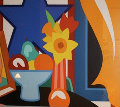 Still Life with Orange Blowing Curtain 1999 Limited Edition Print - Tom Wesselmann