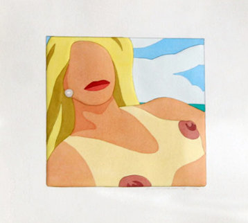 Seascape Portfolio - 5 Hand Colored Prints (Rare) 1978 Limited Edition Print by Tom Wesselmann