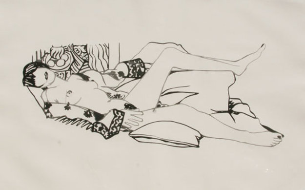 Monica Nude with Matisse 1992 Limited Edition Print by Tom Wesselmann