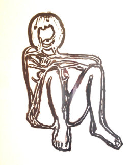 Monica Sitting With Elbows on Knees 1991 Limited Edition Print by Tom Wesselmann