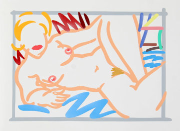 Judy on Blue Blanket 2000 Limited Edition Print by Tom Wesselmann