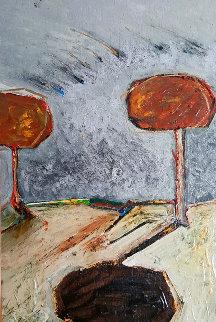 Winter  2000 9x11 Original Painting - Randy Lee White