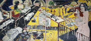 Untitled Diptych 2010 96x48  Huge Mural Original Painting - Randy Lee White