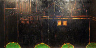 Cityscape 1992 48 X 48 Each Diptych 48x96 Overall Super Huge Original Painting by Randy Lee White - 0
