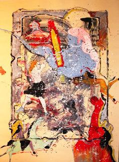 Cain 1987 37x49 Huge Original Painting - Randy Lee White