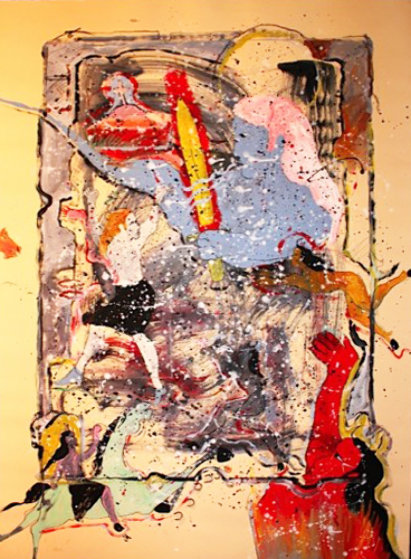 Cain 1987 37x49 Original Painting by Randy Lee White