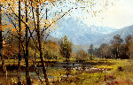 Mountains and Stream 1970 43x33 Original Painting - Albert Whitlock