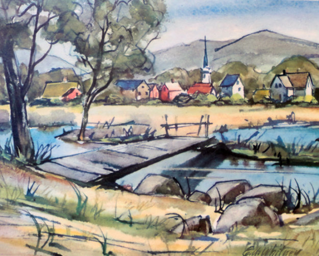 Saddle River Limited Edition Print by Edgar A Whitney