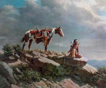 Buffalo Scout Limited Edition Print - Olaf Wieghorst