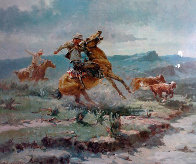 Missing in the Round Up Limited Edition Print by Olaf Wieghorst - 0