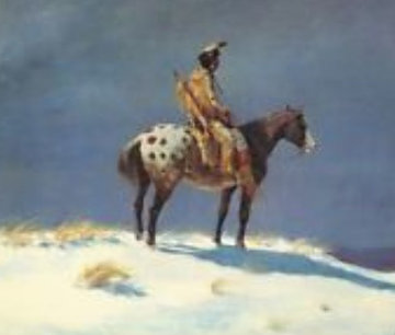 Nez Pierce on Appaloosa 1950 (Early) Limited Edition Print - Olaf Wieghorst