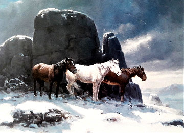 When Shelter Is Scarce 1985 Limited Edition Print by Olaf Wieghorst
