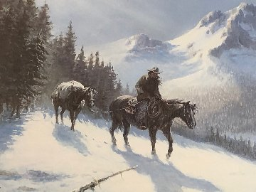 Rocky Mountain Trail 1986 Limited Edition Print by Olaf Wieghorst