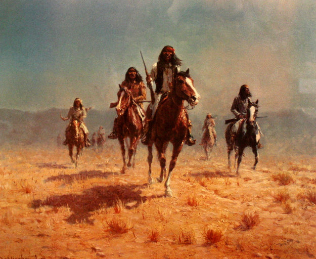 Apache Renegade 1978 Limited Edition Print by Olaf Wieghorst