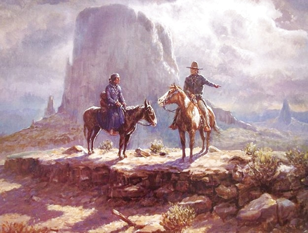 Navajo Family 1986 Limited Edition Print by Olaf Wieghorst