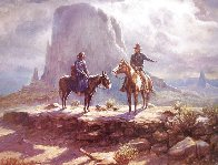 Navajo Family 1986 Limited Edition Print by Olaf Wieghorst - 0
