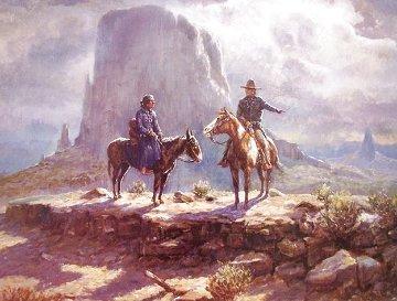 Navajo Family 1986 Limited Edition Print - Olaf Wieghorst