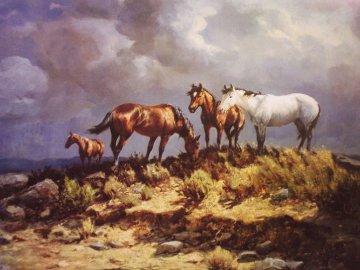 Range Ponies AP Limited Edition Print - Olaf Wieghorst