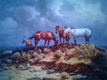 Range Ponies Limited Edition Print - Olaf Wieghorst
