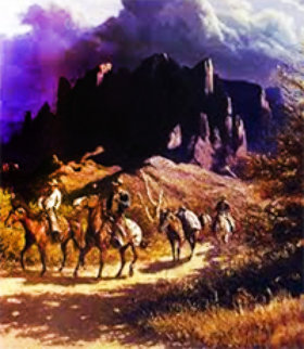 Superstition Trail Limited Edition Print by Olaf Wieghorst