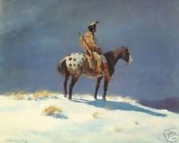 Nez Perce on Appaloosa 1950 (Early) Limited Edition Print - Olaf Wieghorst