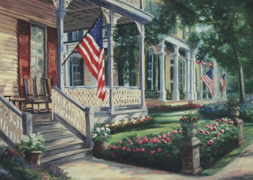 Liberty Street Embellished  Limited Edition Print by Gregory Wilhelmi