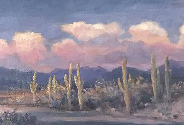 Leaving Arizona 2010 21x45 Original Painting - Gregory Wilhelmi