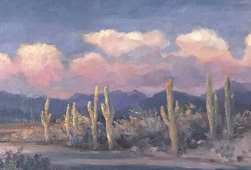 Leaving Arizona 2010 21x45 Original Painting by Gregory Wilhelmi