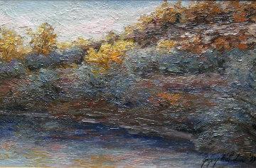 Sunrise At Delphia 8x14 Original Painting by Gregory Wilhelmi