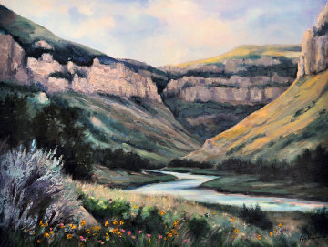Wind River Canyon 32x42 Original Painting - Gregory Wilhelmi