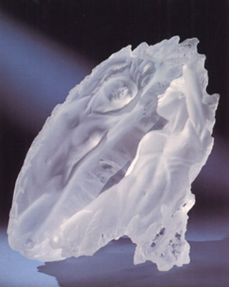 Dream Fragment I Acrylic Sculpture 1988 18 in Sculpture by Michael Wilkinson