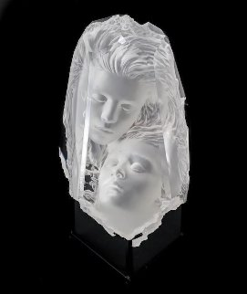 Temple Fragment Acrylic Sculpture 1997 13 in Sculpture by Michael Wilkinson