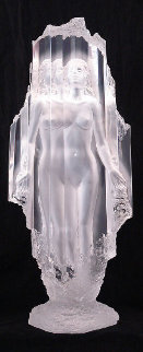 Lightfall Acrylic Sculpture 1989 34 in Sculpture by Michael Wilkinson