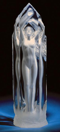 Pinnacle  Acrylic Sculpture 2001 34 in Sculpture by Michael Wilkinson