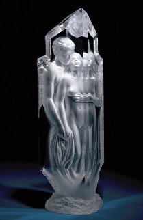 Temple Acrylic Sculpture 2005 32 in Sculpture by Michael Wilkinson
