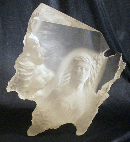 Atlanteans III - Odyssey Acrylic Sculpture 1991 18 in Sculpture by Michael Wilkinson