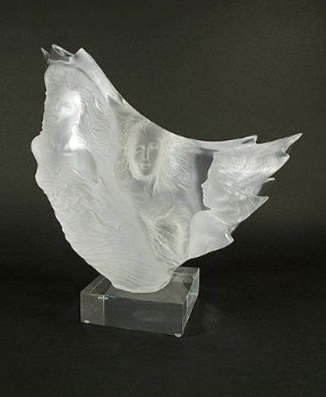 Graces Acrylic Sculpture 1991 17 in Sculpture by Michael Wilkinson