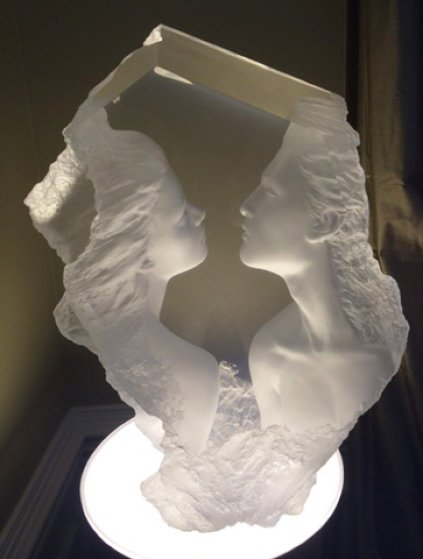 Lodestone Acrylic Sculpture 2000 56 in Sculpture by Michael Wilkinson