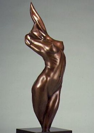 Fire Bronze Sculpture 1984 21 in Sculpture by Michael Wilkinson