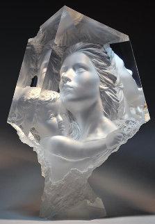 Haven II: Morning Light Acrylic Sculpture 1996 21 in  Sculpture by Michael Wilkinson