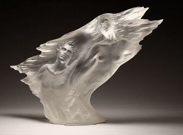 Song of the Cypress Acrylic  Sculpture 24 in Sculpture by Michael Wilkinson