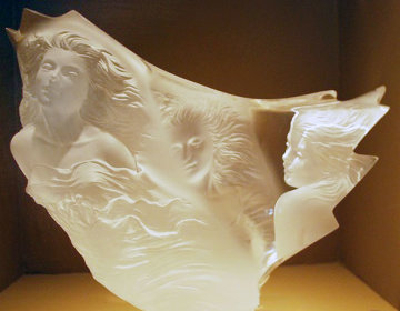 Graces Acrylic Sculpture 1988 17 in Sculpture - Michael Wilkinson
