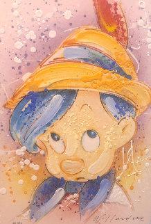 Wood-n It Be Nice AP Embellished  - Pinnochio Limited Edition Print by David Willardson