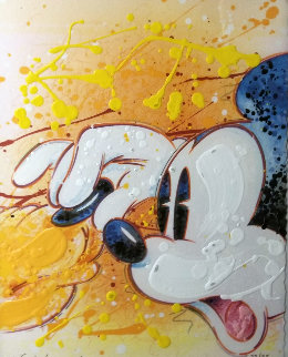 Squeeze Play (Mickey And Pluto) Embellished Limited Edition Print by David Willardson