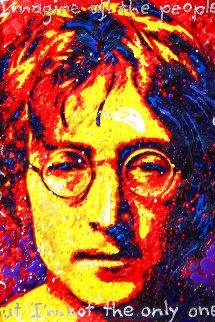 John Lennon Imagine 2009 17x14 Original Painting - David Willardson