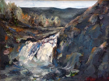 Grand Canyon Chasms 34x48 Original Painting - William Kirkpatrick Vincent